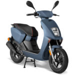 Scooter 50cc halo bleu mat