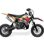 motocross enfant orange